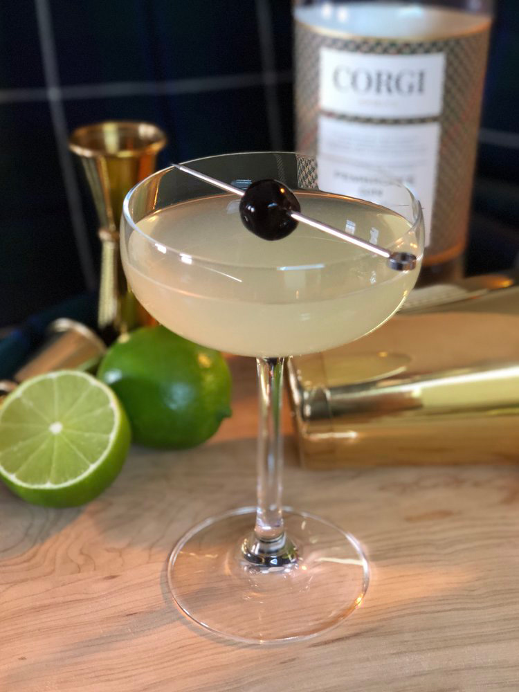 THE LAST WORD   0.75oz Corgi Spirits Pembroke Gin  0.75 Green Chartreuse  0.75 Maraschino liqueur  0.75oz fresh lime juice  Cherry for garnish    Fill a shaker with ice, add gin, liqueurs, and lime juice, and shake vigorously. Strain into a chilled cocktail glass. Add garnish.
