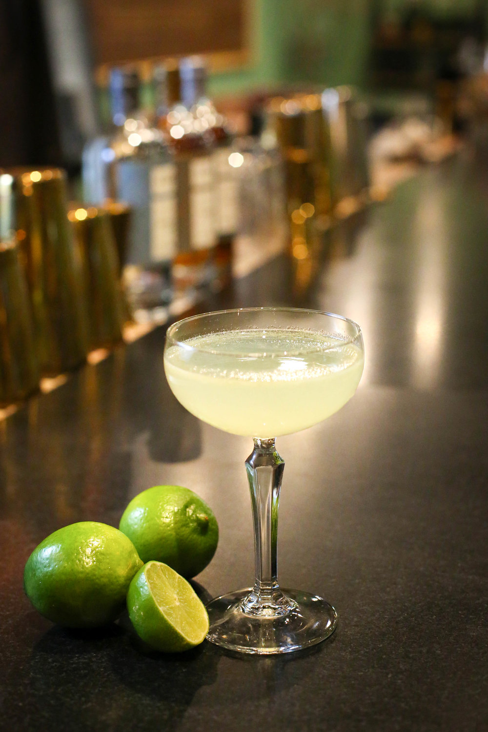 GIMLET   2 oz Corgi Spirits Pembroke Gin  0.75 oz lime juice  0.75 oz simple syrup  Fill a shaker with ice, add all ingredients and shake vigorously. Double strain into a coupe glass.