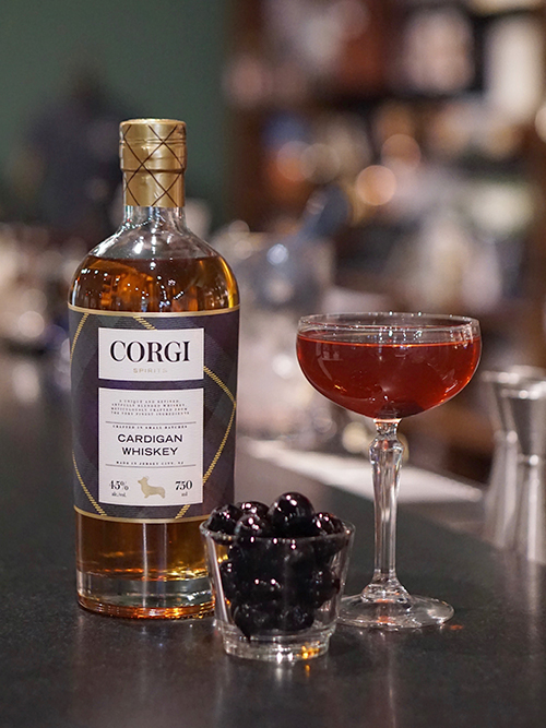 MANHATTAN   2 oz Corgi Spirits Cardigan Whiskey  1 oz sweet vermouth  2 dashes Angostura Bitters    Fill a pint glass with ice. Add all ingredients and stir well. Strain into a chilled coupe and garnish with a cherry.