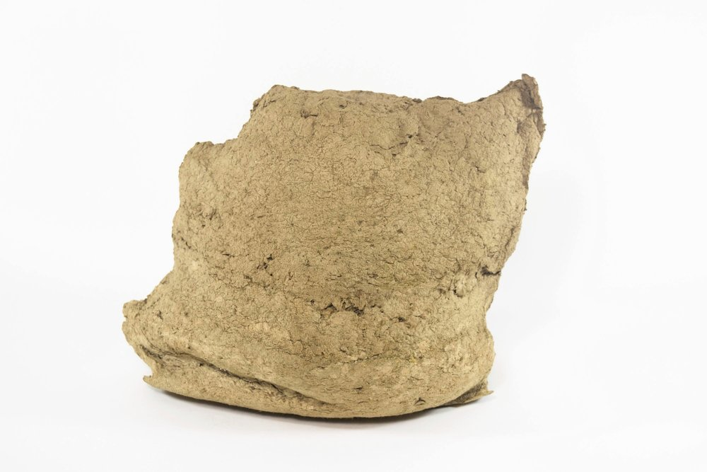 Racoon (bread) , paper pulp, 10 x 10 x 8 in, 2016.