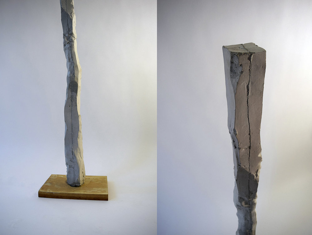 La tierra (column) , cement, 60 x 5 x 5 in, 2015.