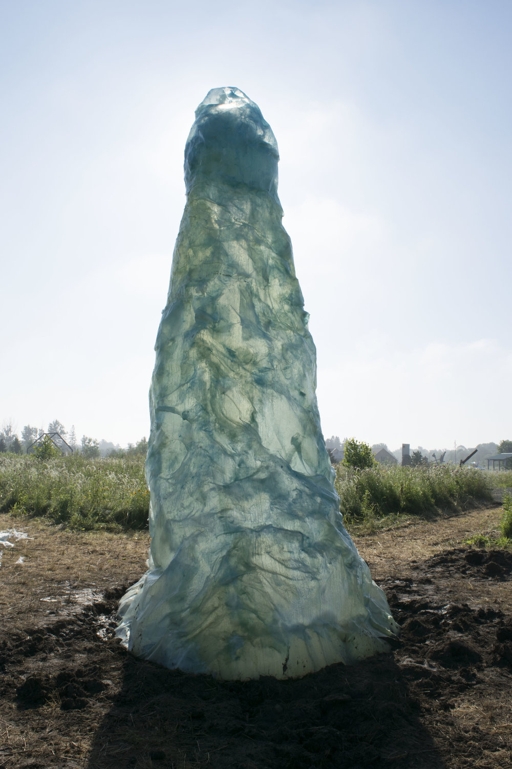 Vortex , resin, 19 x 8 x 8 feet, 2018, Franconia Sculpture Park.