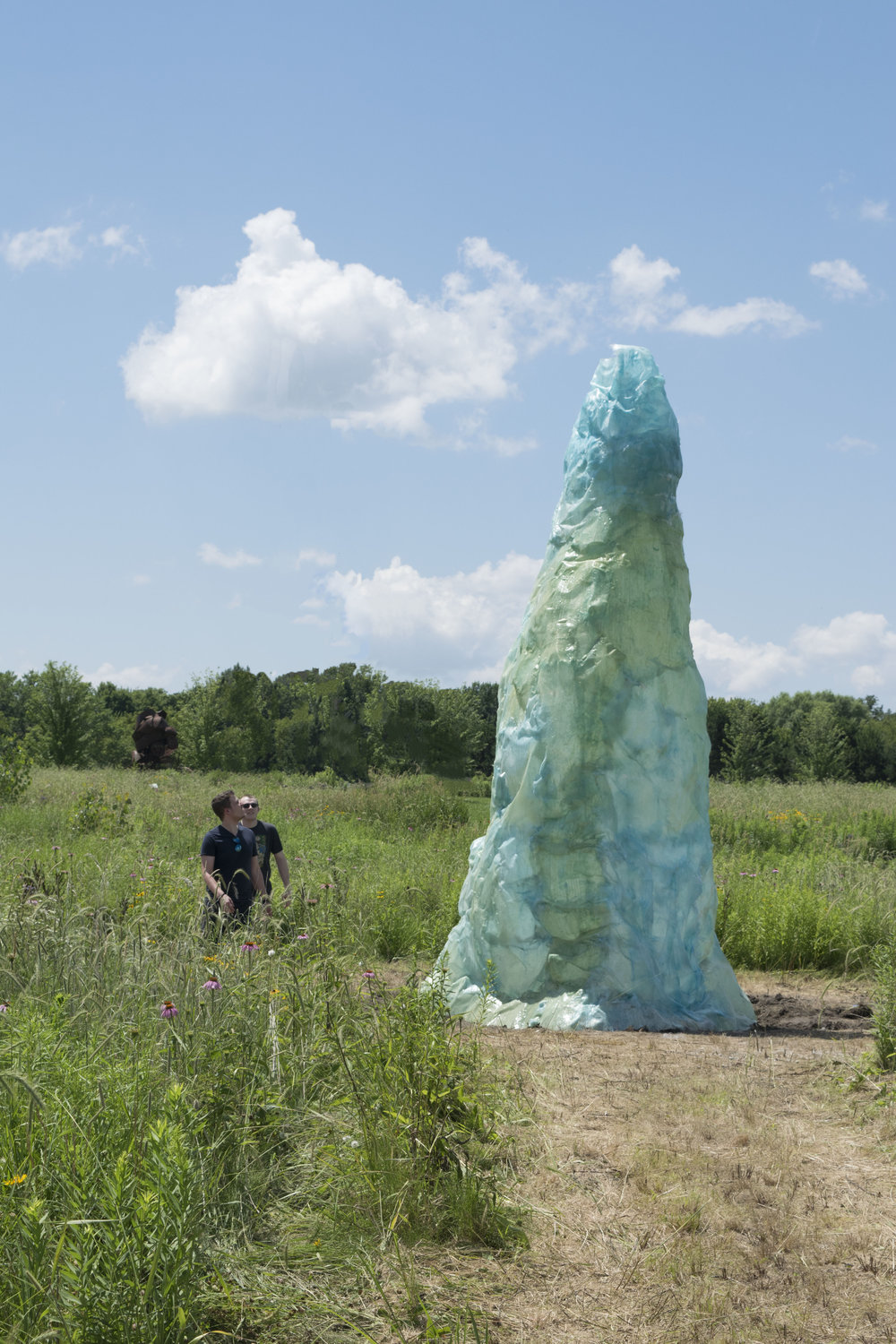 Vortex , resin and fiberglass, 20 x 12 x 12 feet, Franconia Sculpture Park, Minnesota, 2018.
