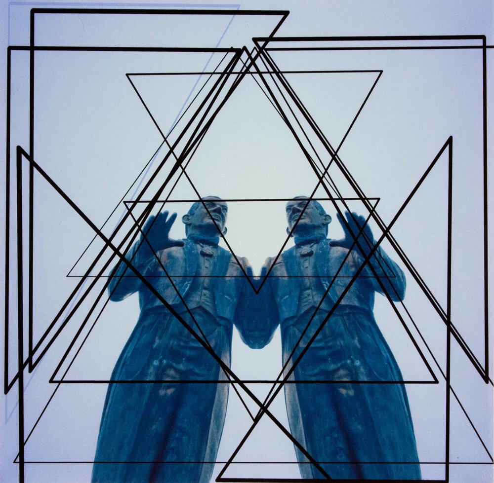 "Triangles with Arturo Somohano , 10"" x 10"", Digital Print, 2015"