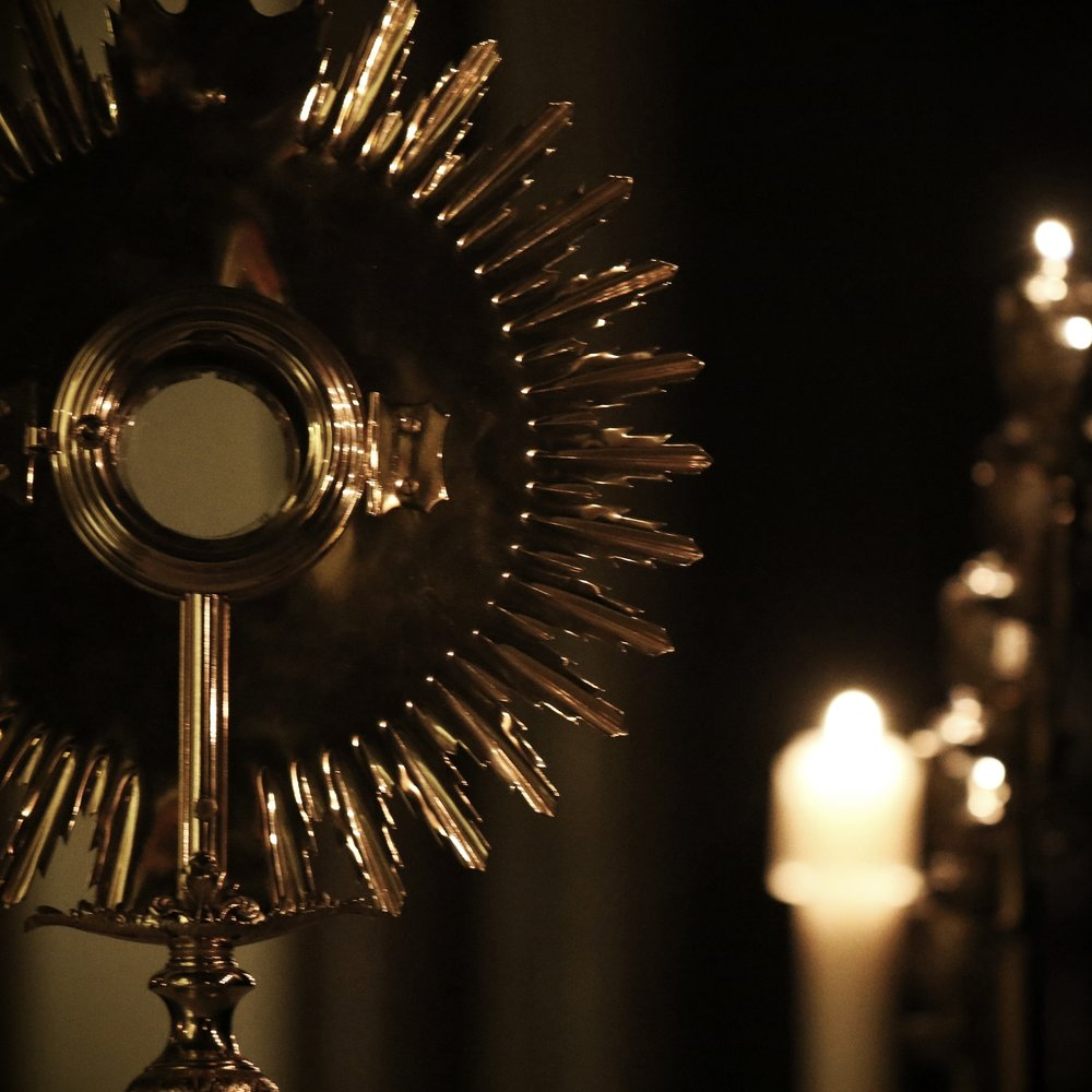 Adoration   Sts. Agatha & James Church   Monday - Friday from 3:00 - 6:00pm Wednesdays from 7:00-9:00 pm with Praise & Worship   St. Katharine Drexel Chapel   Room 212, Academic Building Tuesdays from 7:00-8:00 pm Wednesdays from 6:00 - 8:00 pm   First Friday of every month  from 7:00-7:45pm with Praise & Worship