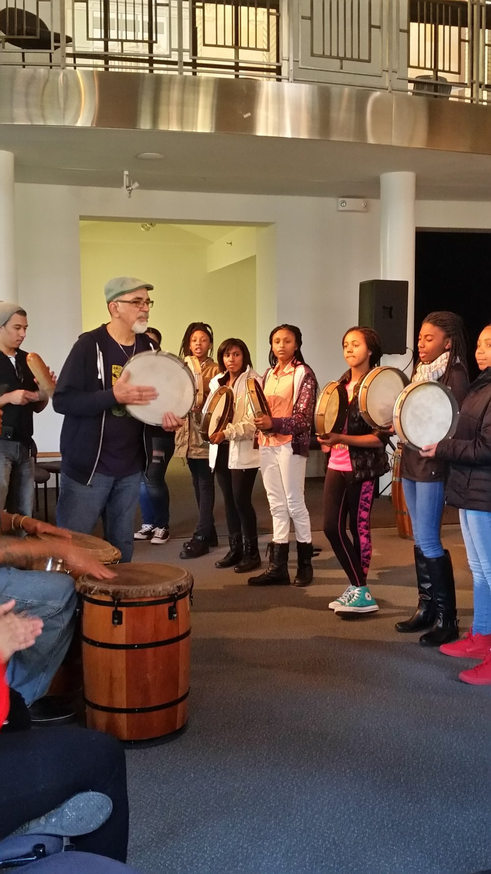 Los Pleneros Performance and Drumming Workshop at Arts Westchester March 2017