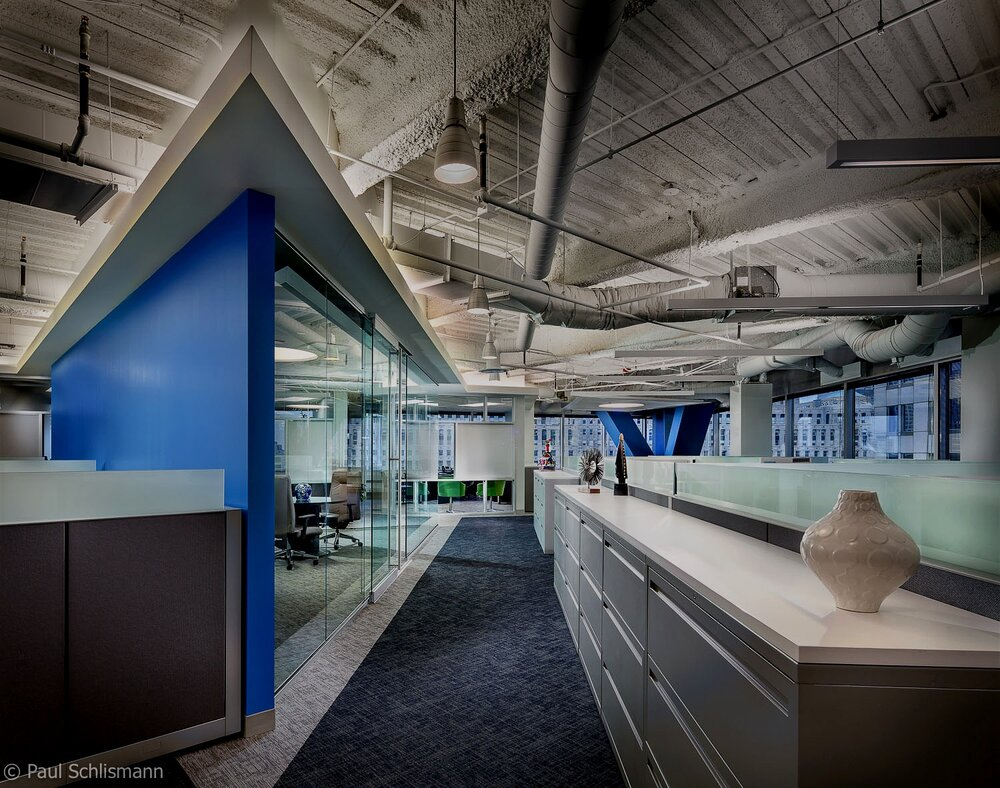Milwaukee architectural photographer | office interior