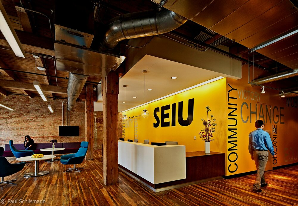 Las Vegas architectural photographer _ SEIU office lobby