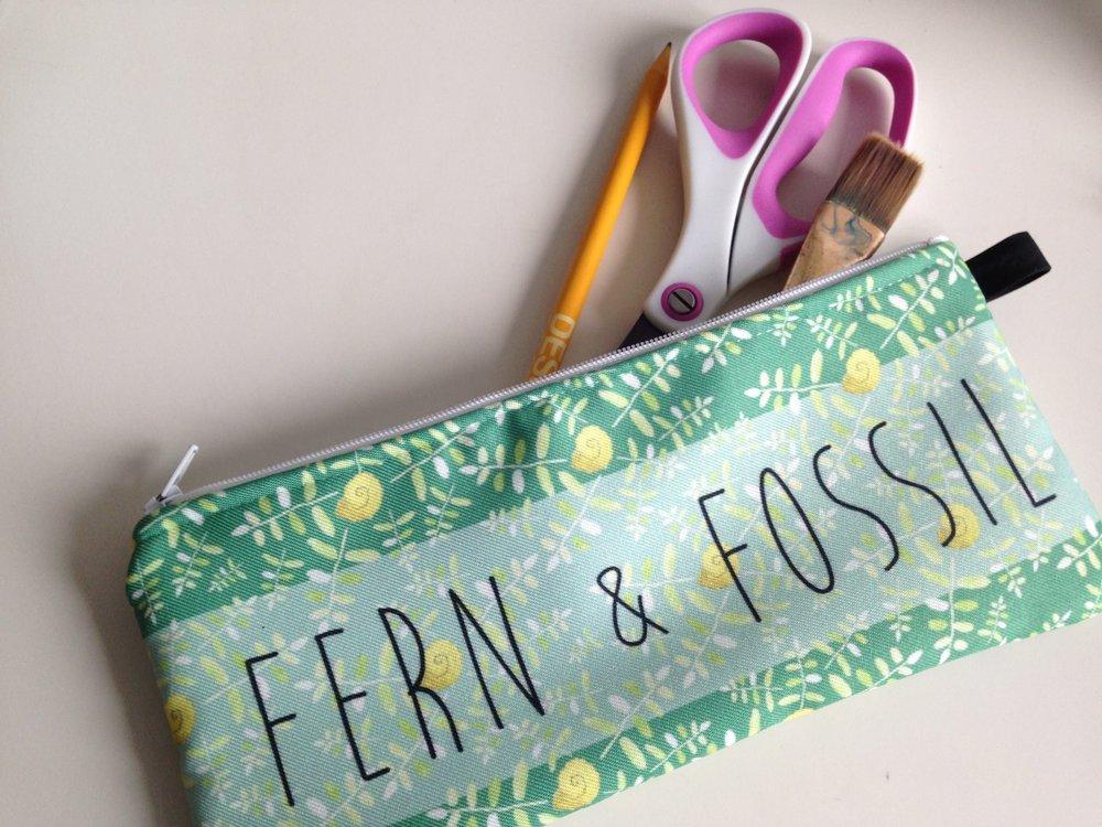Fern & Fossil Branded Zip Pouch