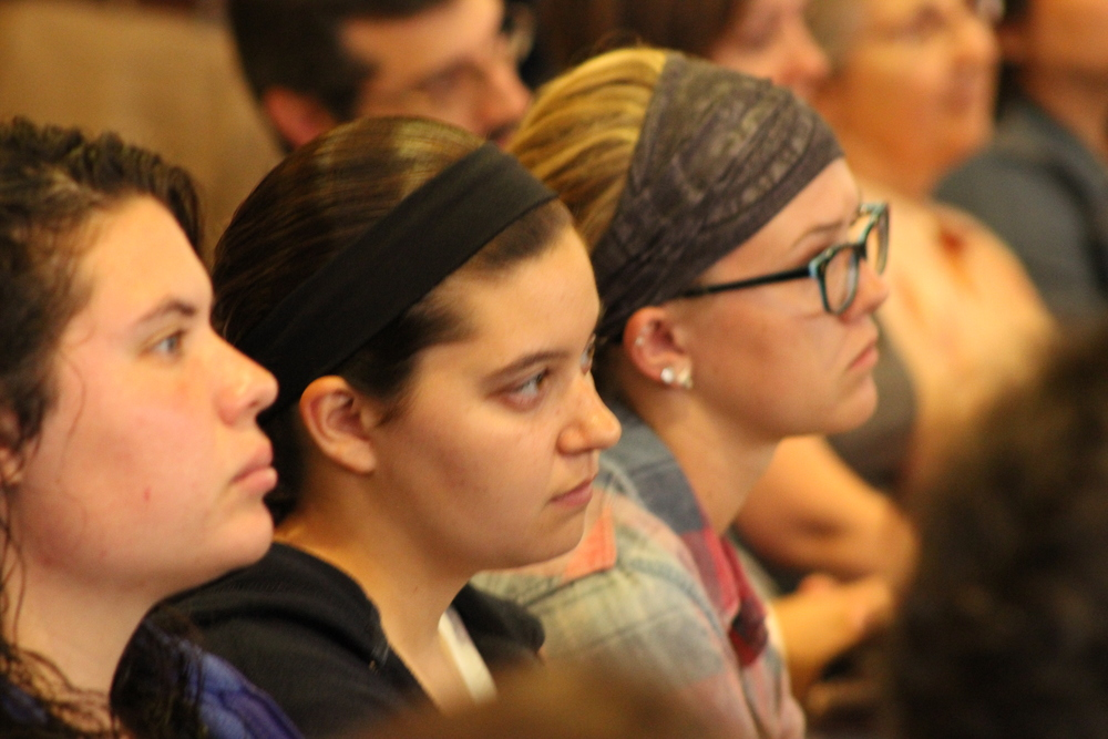 students pondering