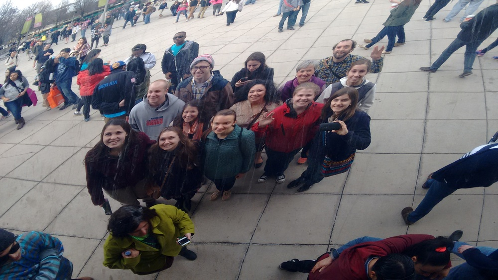 "A View of the Hope Students from Chicago's Famous ""Bean"""