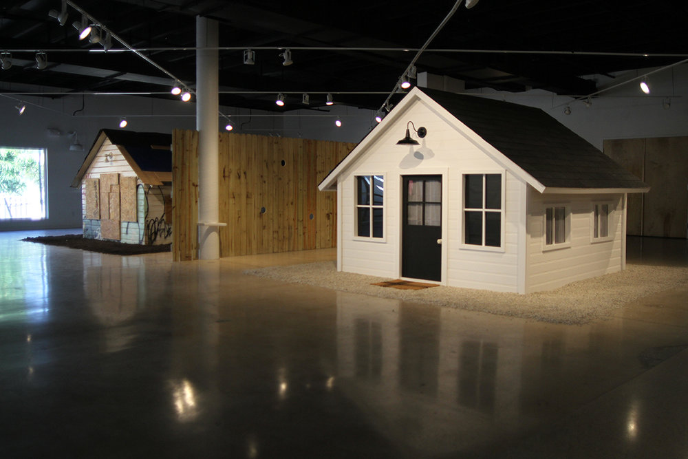 DWELLING installation at The Arts Warehouse Delray, Florida