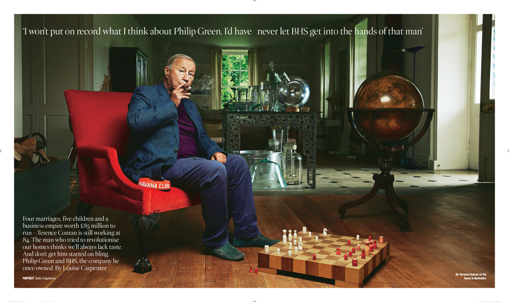 Jude Edginton Photographs Terence Conran For The Times Magazine