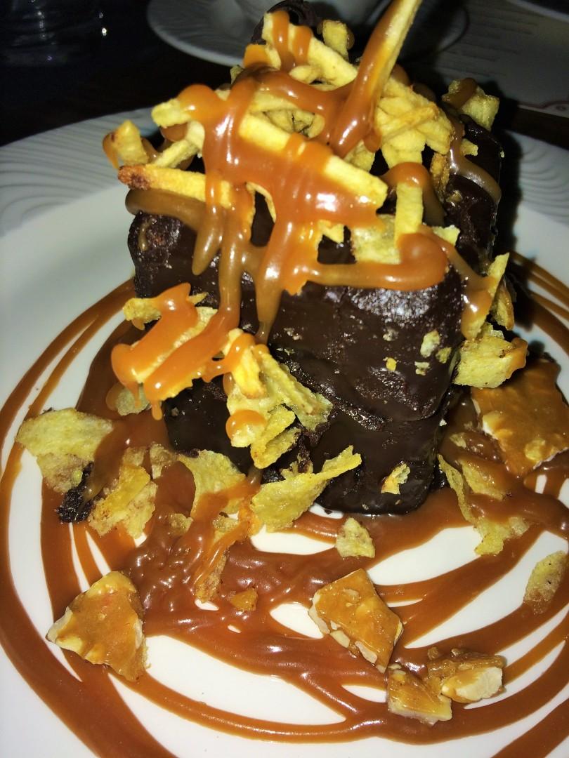 potato chip crusted chocolate cake