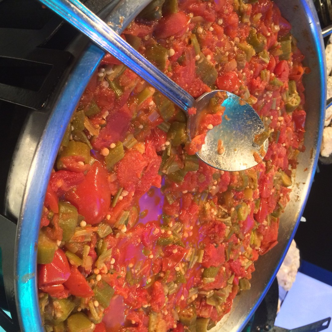Stewed tomatoes with okra