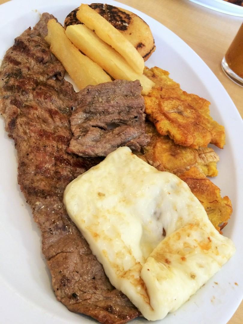 Steak combo platter