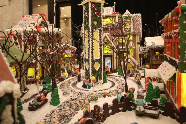 gingerbread village at Caribe Royal