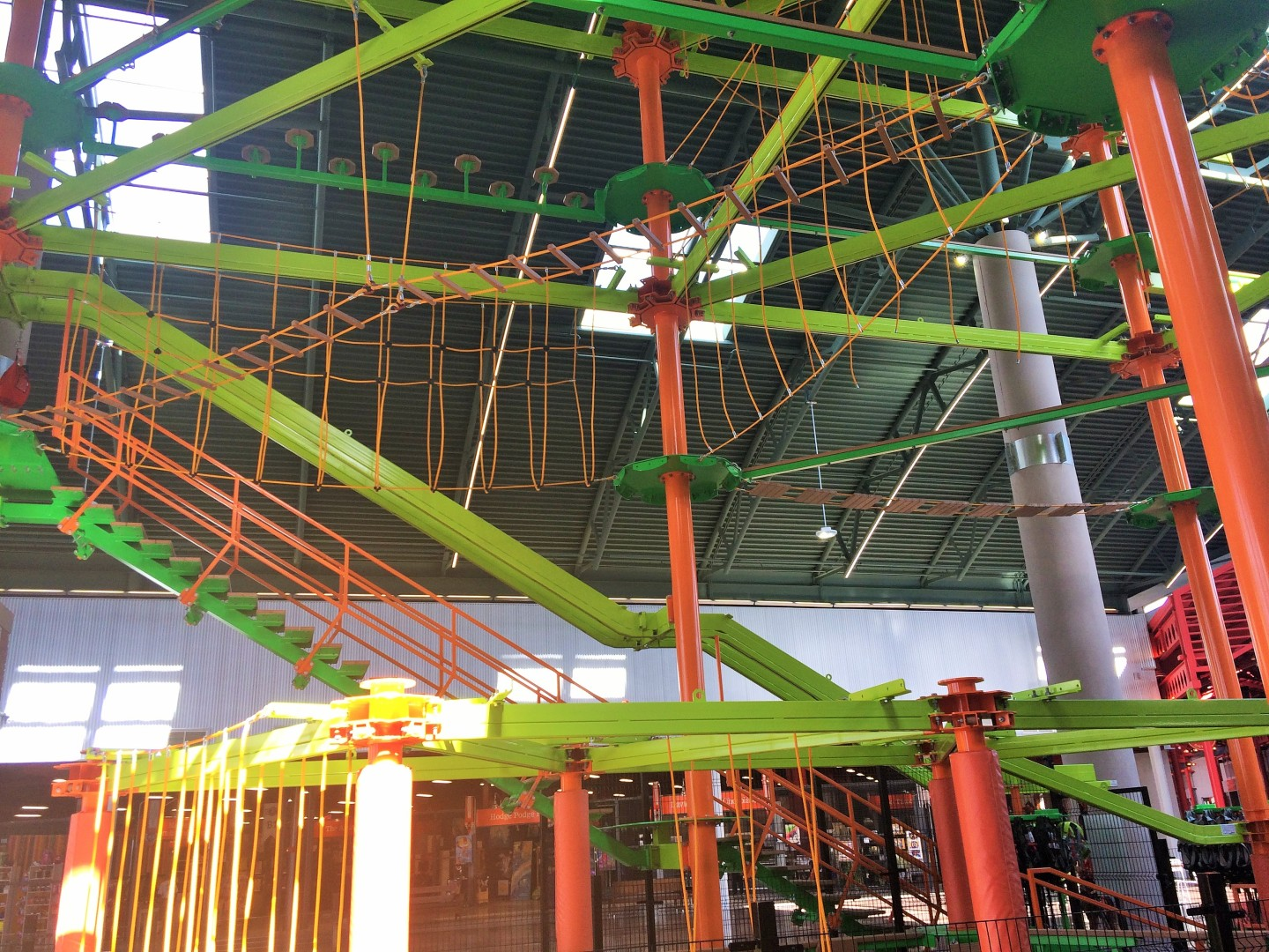 This ropes course will appeal to kids.