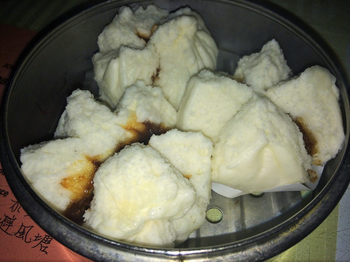 Steamed barbecue roast pork buns
