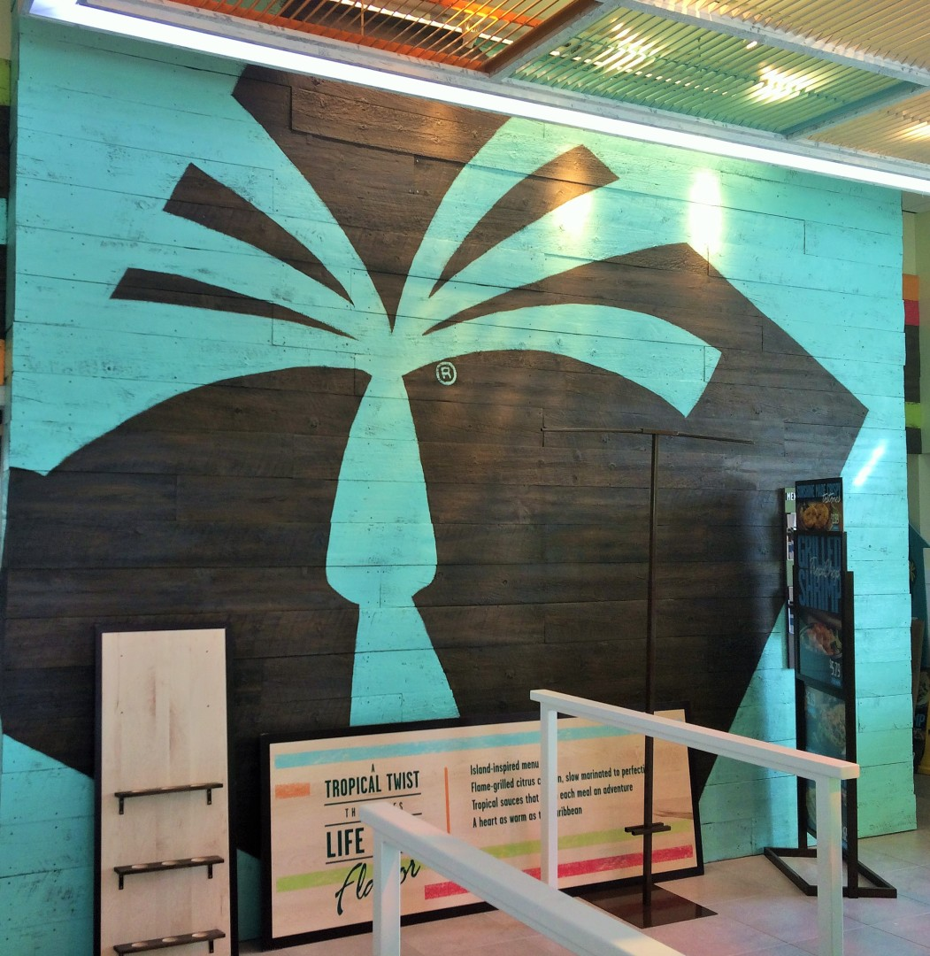 A stylish take on palm trees at Pollo Tropical. Give Pollo Tropical Another Try.