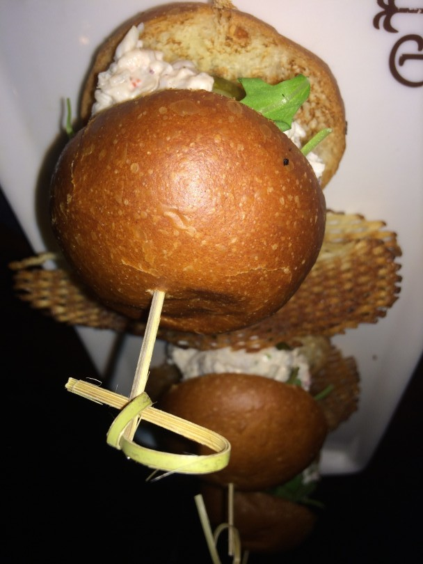 Lobster sliders at The Palm bar