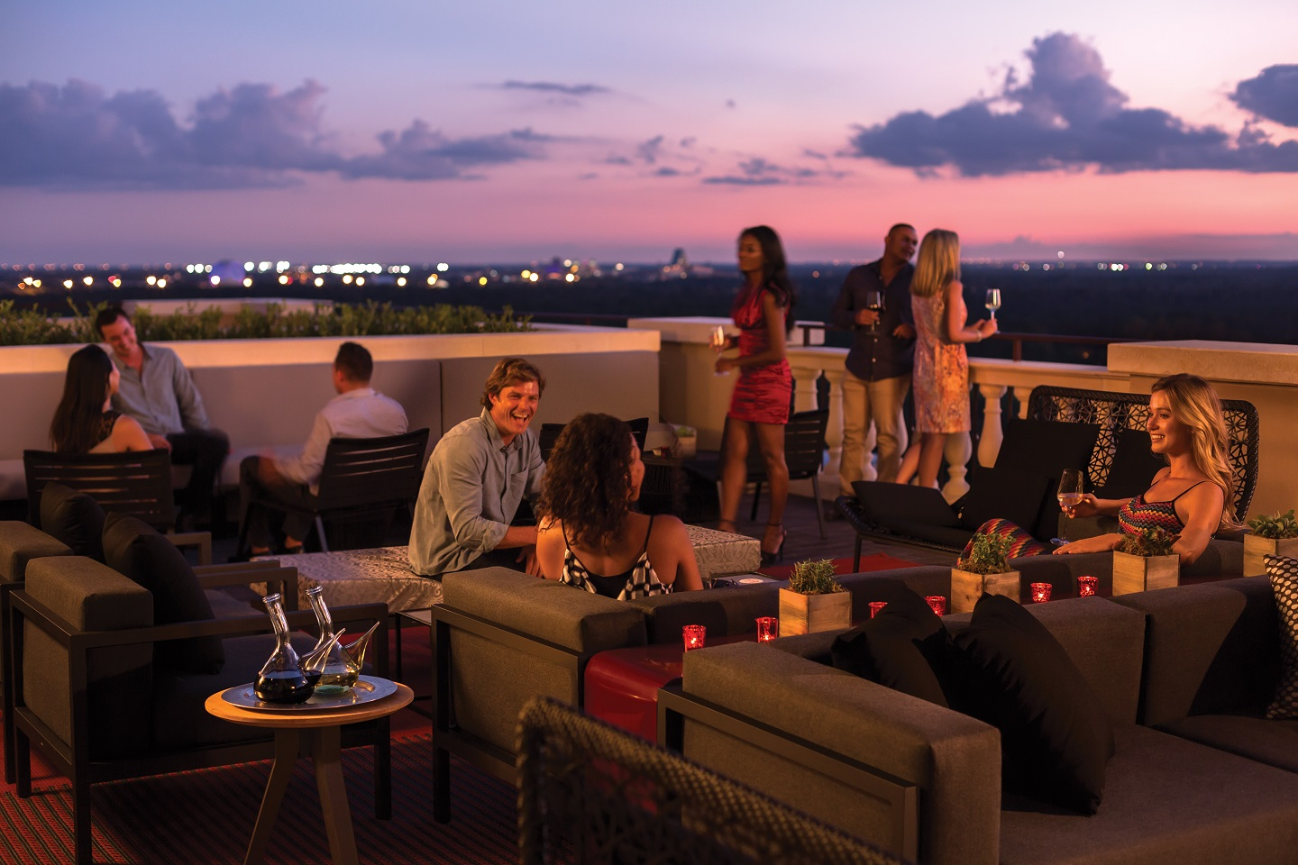 You can see nearly all of Disney World from Capa's rooftop lounge.