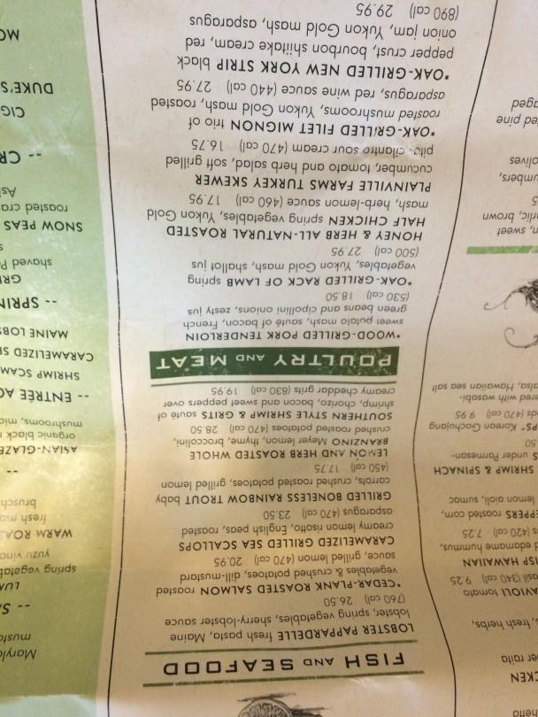 Seasons 52 menu