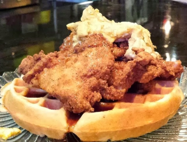 Shantell's chicken and waffle lunch