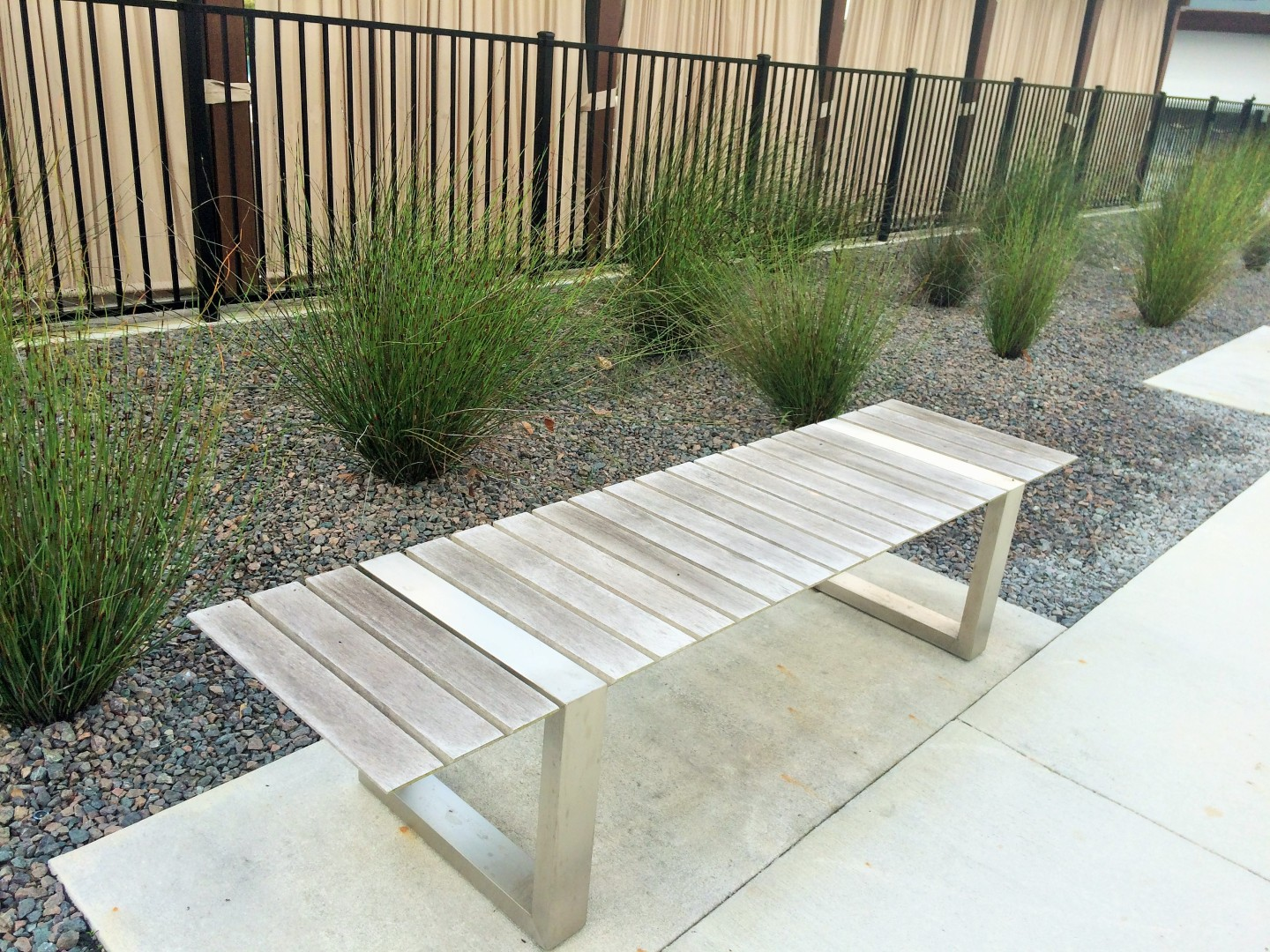 Even simple benches have a minimalist edge.