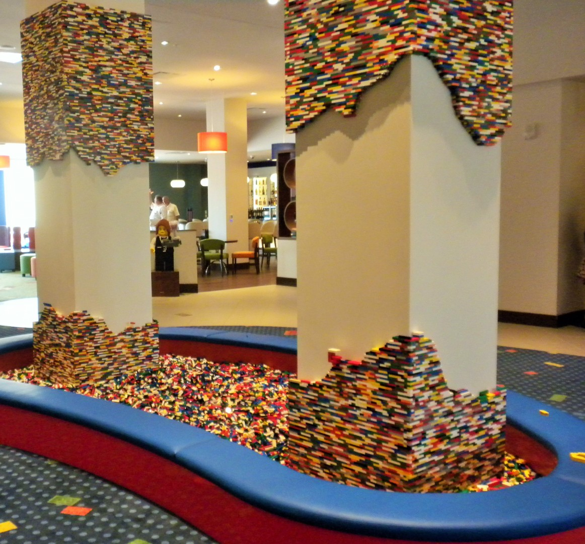 The main Lego pit at the Legoland Hotel Florida