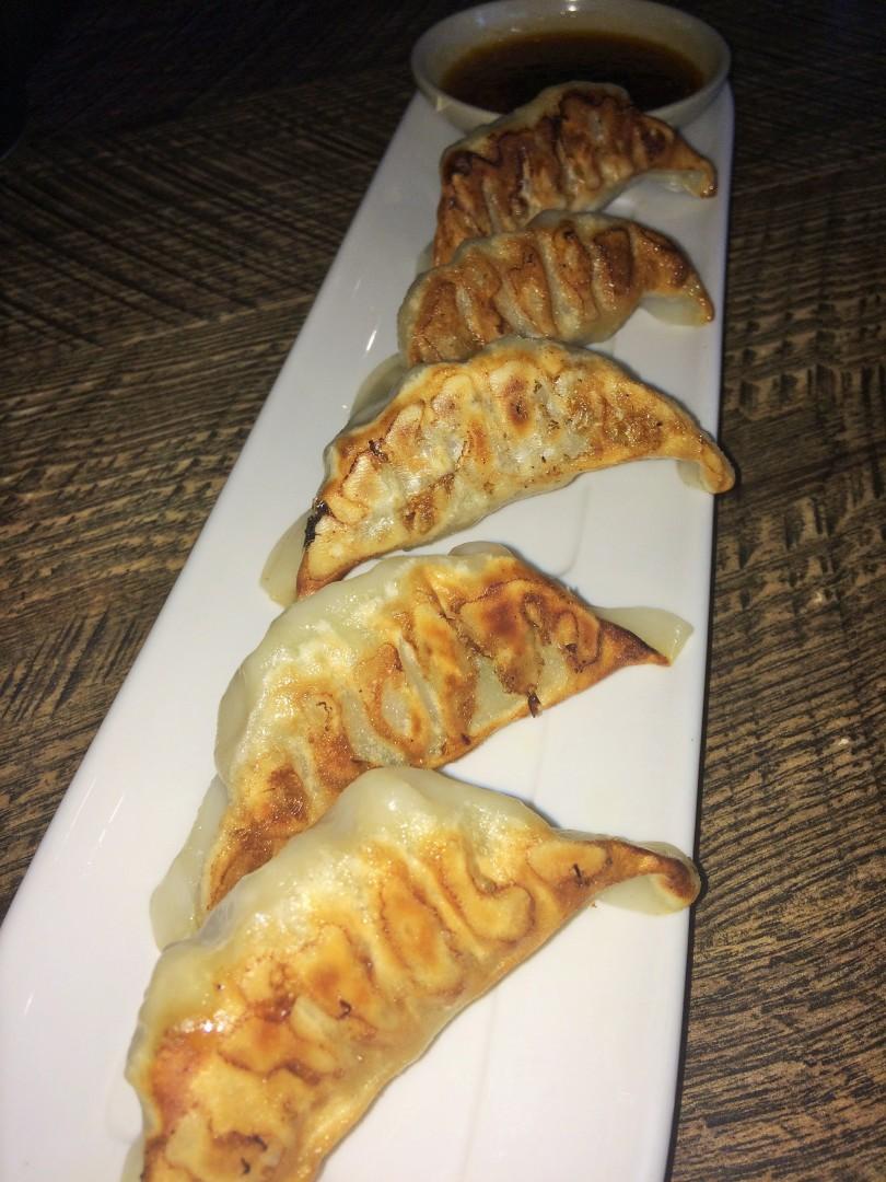 Pan-fried potstickers