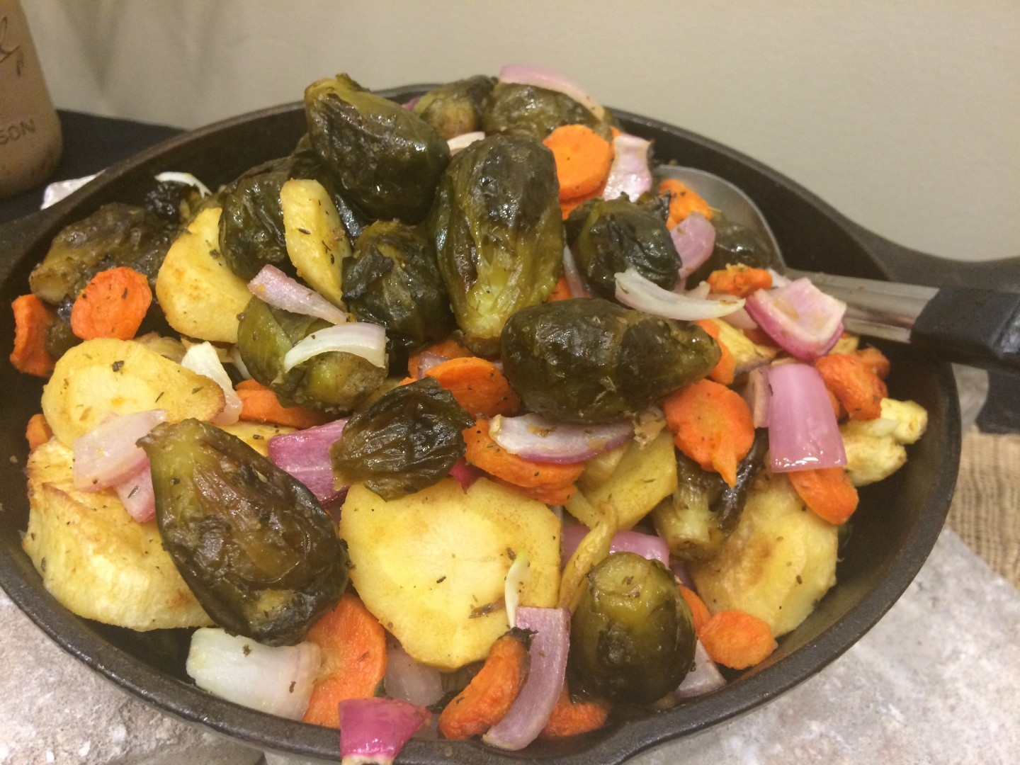 Harvest-roasted root vegetables