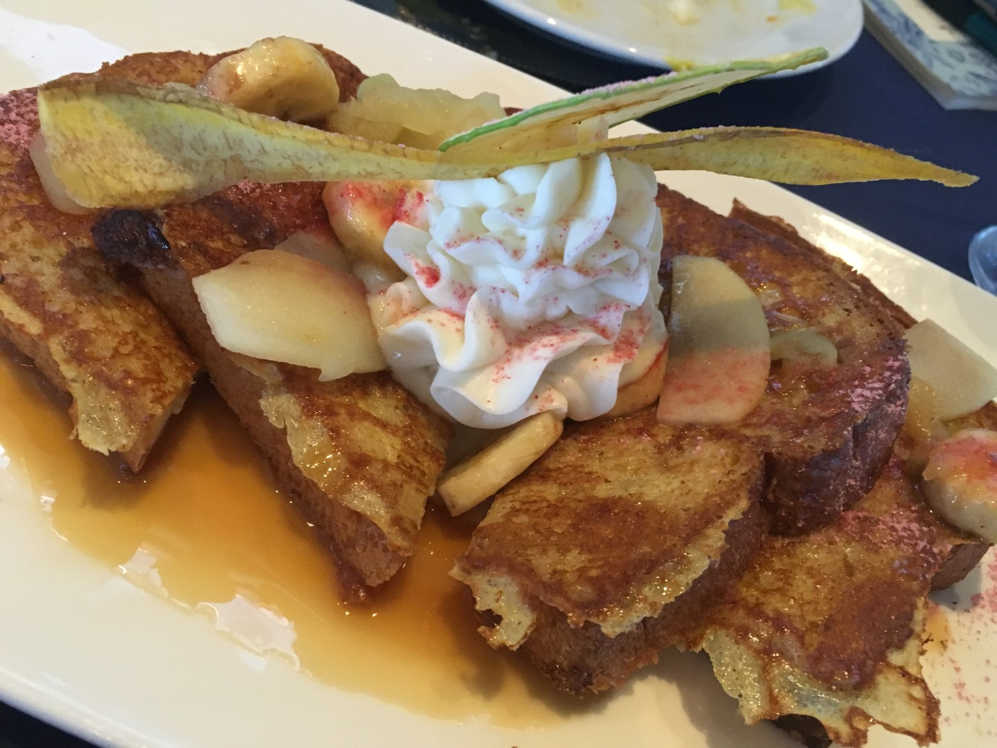 Brunch at Disney World's Narcoossee's includes banana french toast.