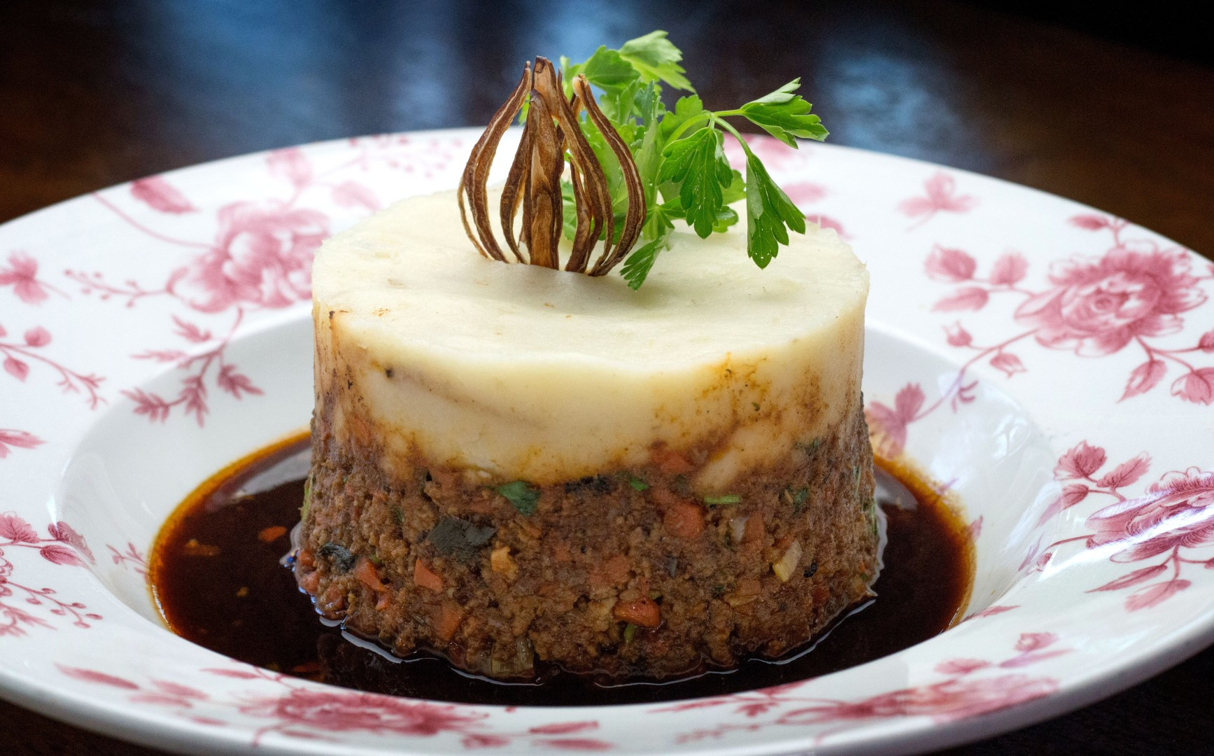 Keen eye for the shepherd's pie, as served at Raglan Road Irish Pub at Disney Springs in Lake Buena Vista, FL.