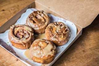 Pecan-maple sticky buns are a Pharmacy classic that are ideal for Mothers Day in Orlando 2016