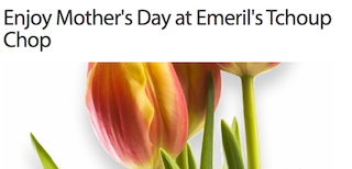 Emeril's Tchoup Chop is serving brunch for Mother's Day in Orlando 2016