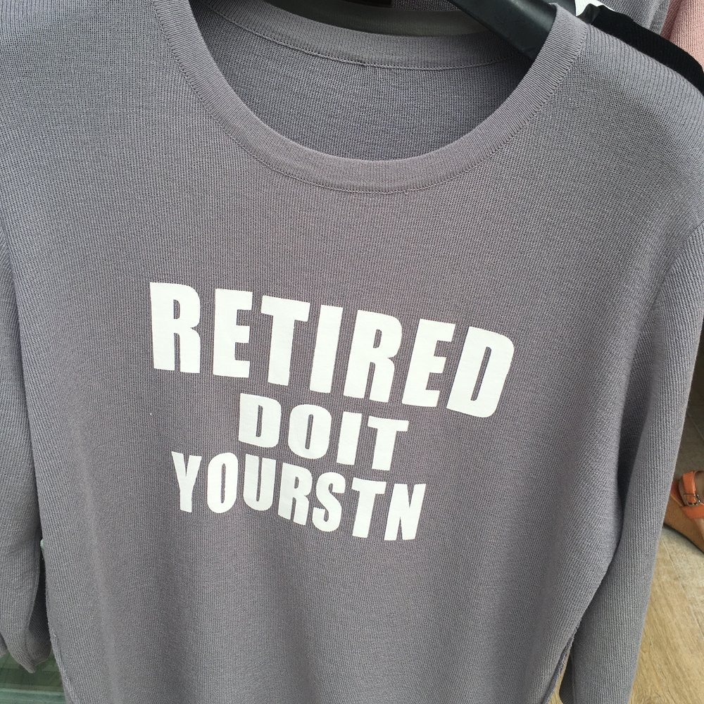 Shirts with nonsensical English-inspired sayings are ubiquitous in China. The best ones I spotted were on people's bodies so I couldn't snap pictures. This one was for sale in a store.