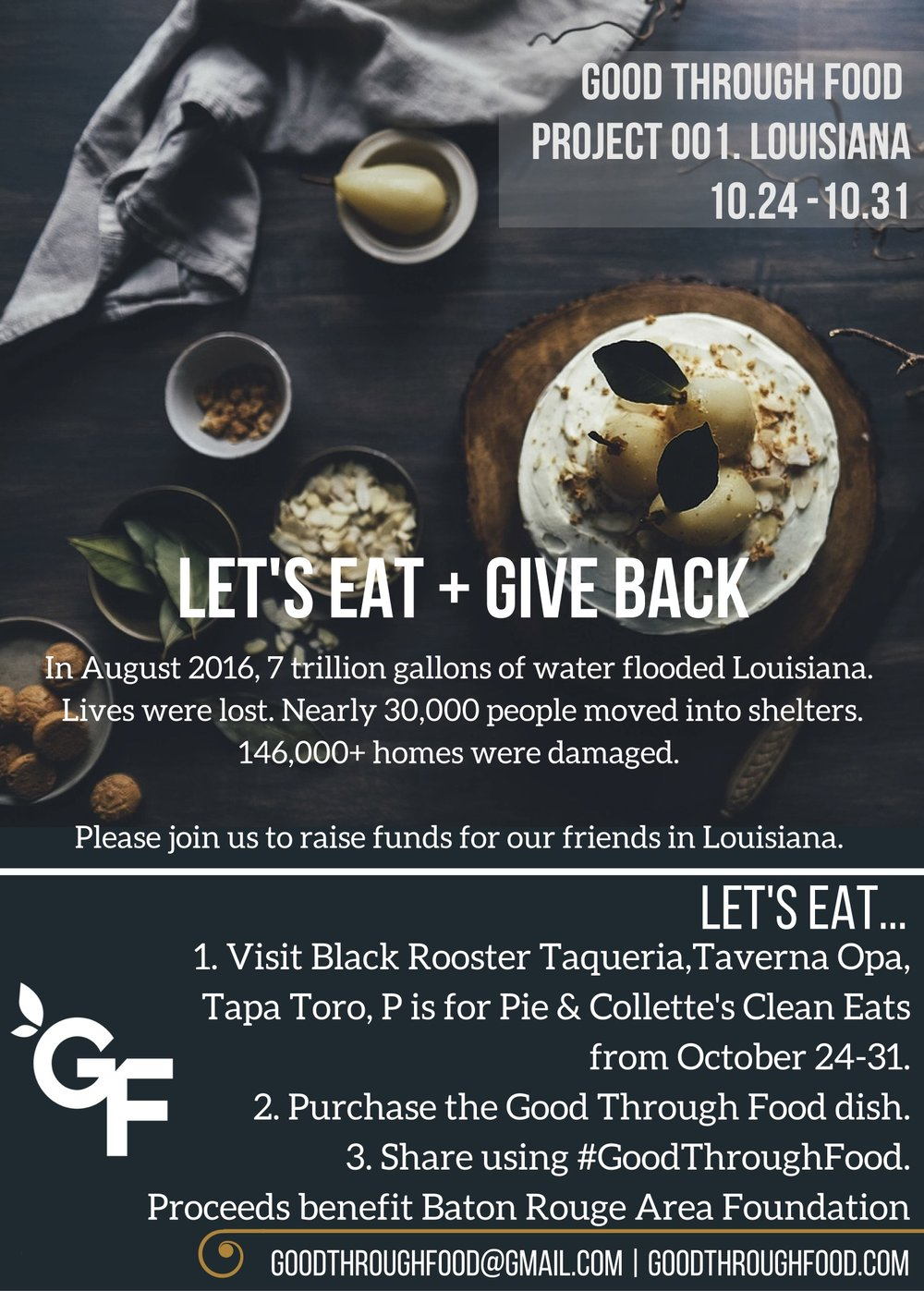 Raise Funds for Louisiana via Good Through Food