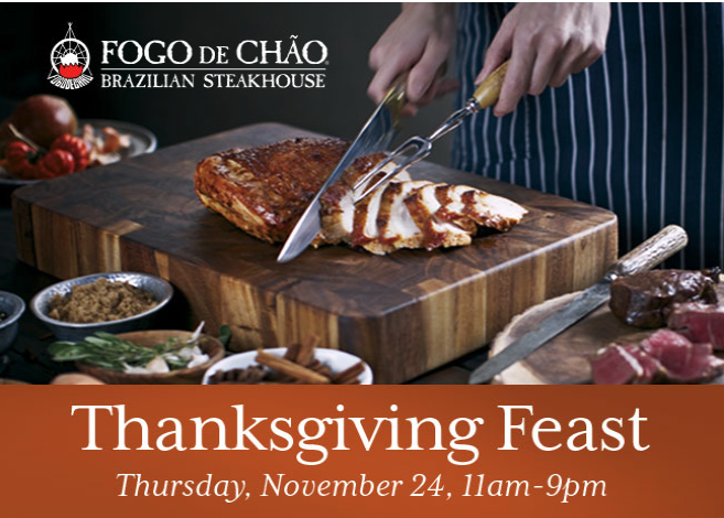 Where to Eat on Thanksgiving in Orlando 2016 Fogo de Chao