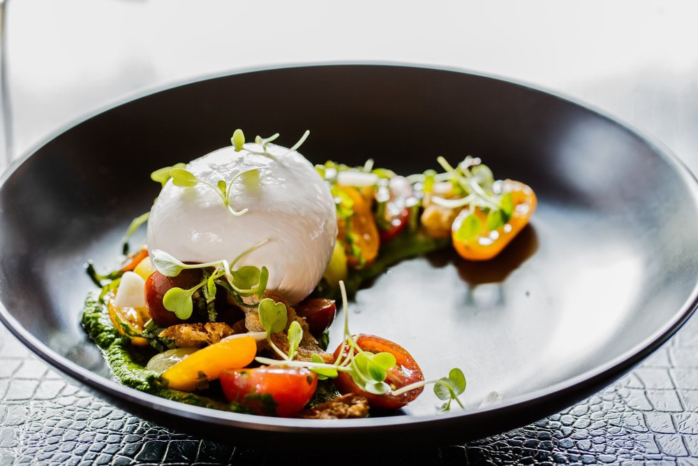 Buratta salad with heirloom tomatoes