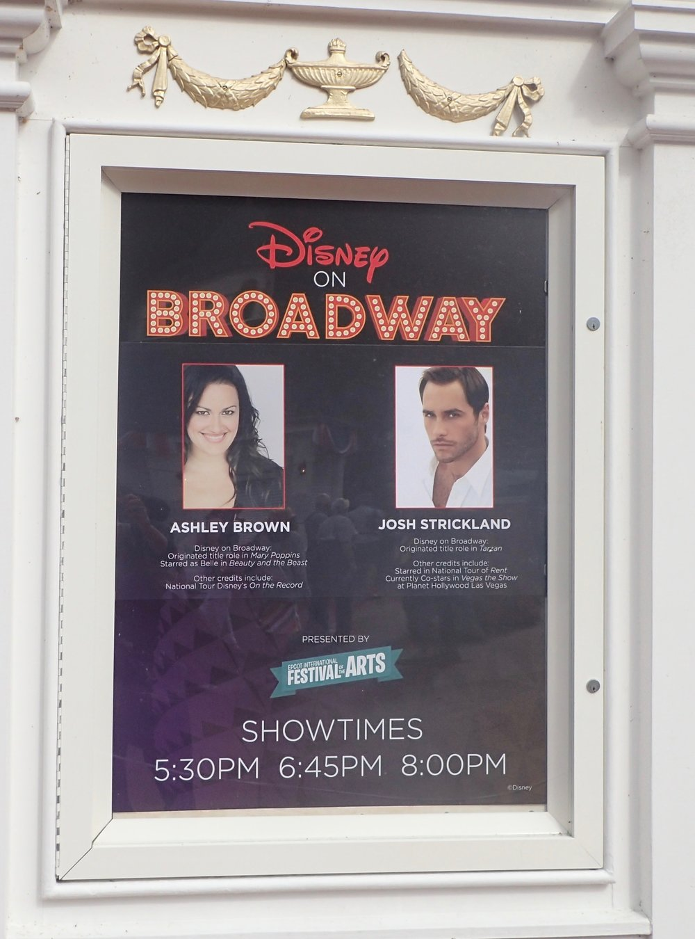 Ashley Brown and Josh Strickland are among the Broadway headliners performing at night.