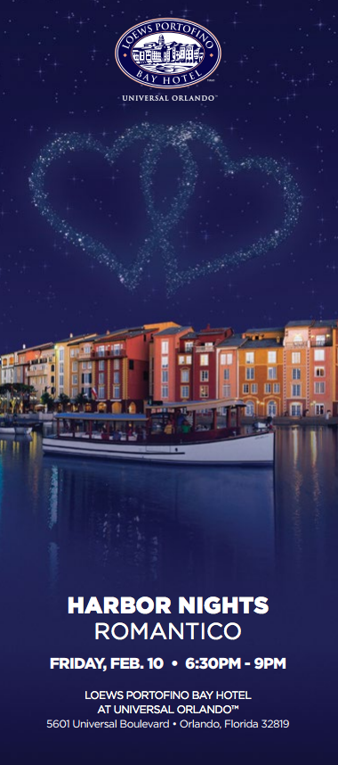 Orlando -- Dine, drink and hear live entertainment at Harbor Nights, an alfresco event at the Loews Portofino Bay Hotel