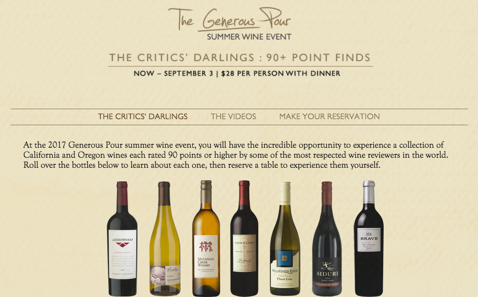 Capital Grille Shares Great Wines for $28