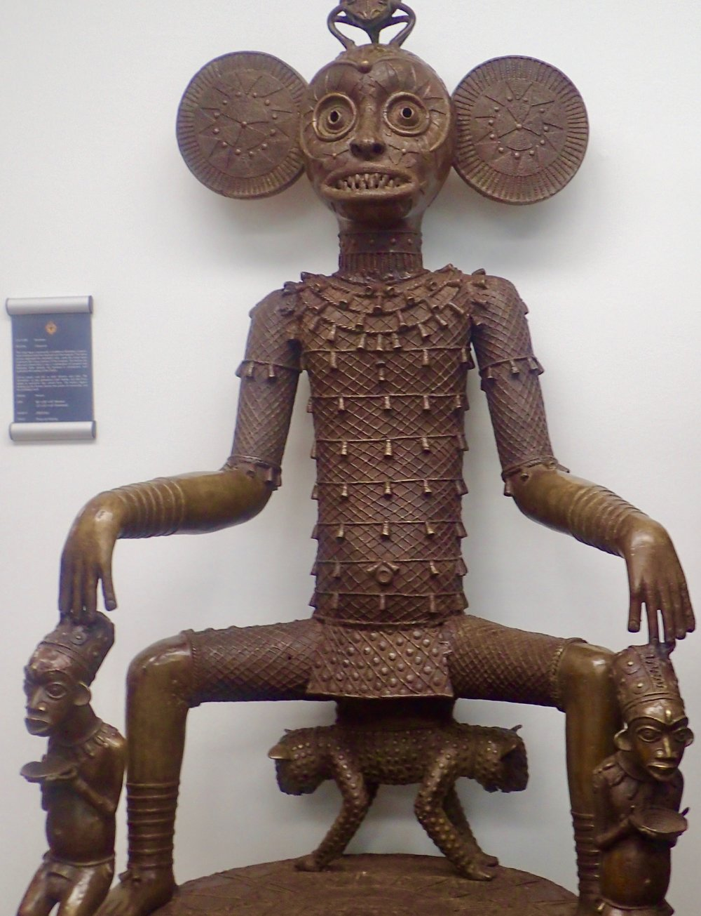 See African Tribal Art at Bronze Kingdom monkey ears