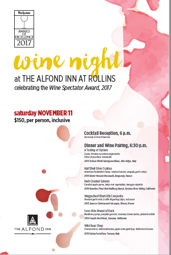 Wine and Dine at The Alfond Inn
