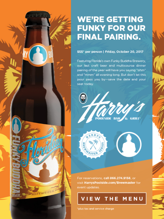 Drink Up! Join Harry's the Funky Buddha Beer Pairing