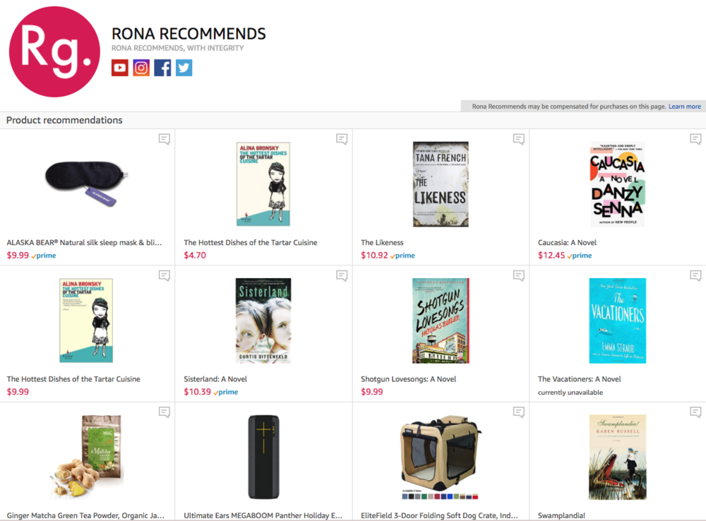 Need Ideas? Rona Is Now an Amazon Influencer