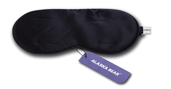 Five gifts for a practical woman ALASKA BEAR Natural silk sleep mask black