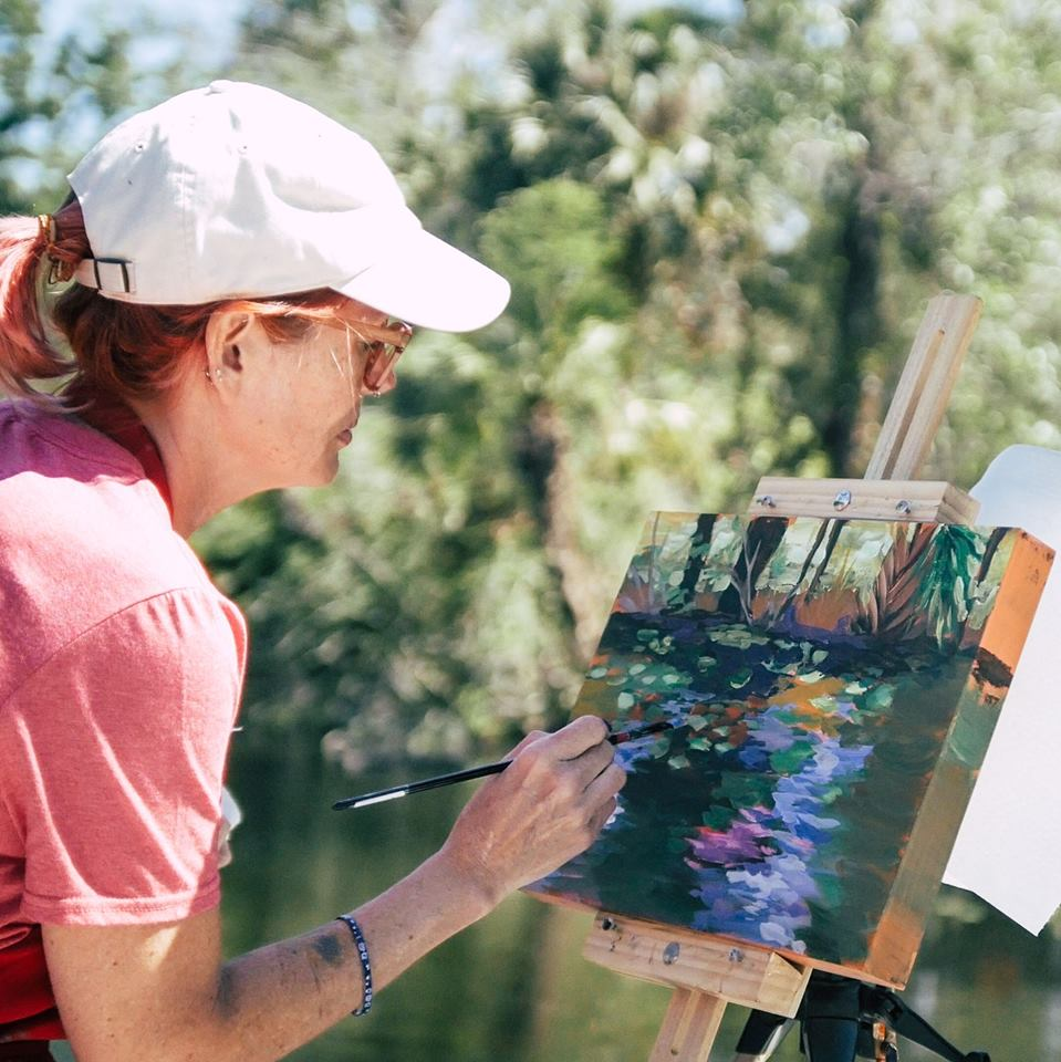 See Artists at Work at Wekivas Paint Out.jpg