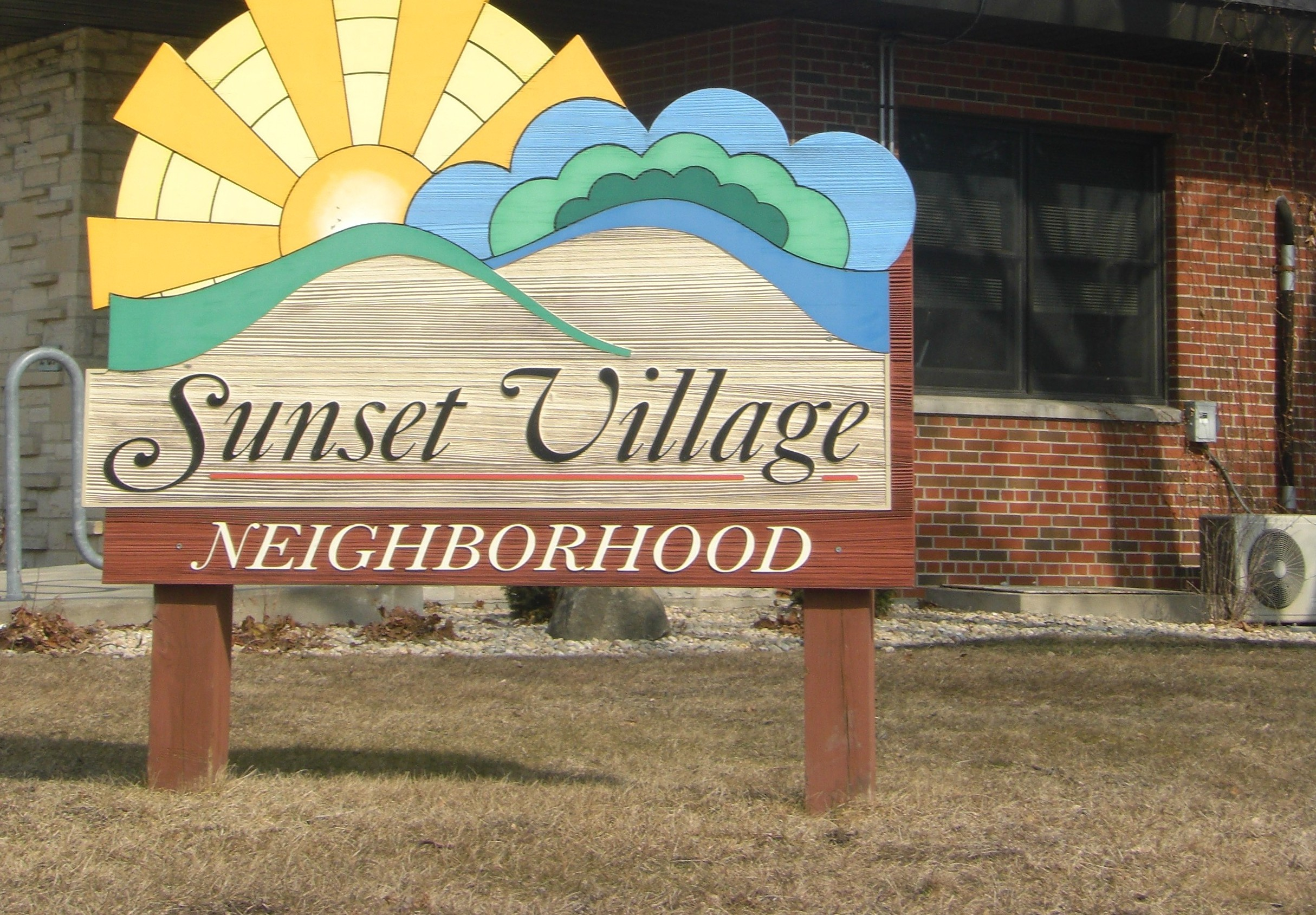 Sunset Village sign